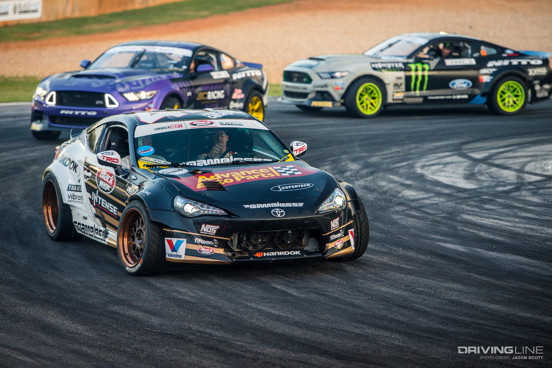 Ryan Tuerck, Chelsea DeNofa and Vaughn Gittin Jr.